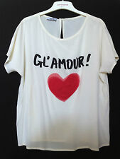 RRP $340 MOSCHINO GL'AMOUR SILK BLOUSE TOP L 14 last