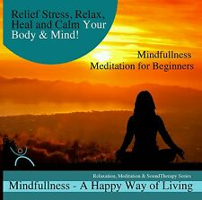 MINDFULLNESS MEDITATIONS x 4 ON 1 CD- FOR STRESS RELIEF, CALMING BODY MIND, NEW☆