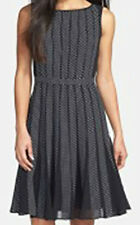 Adrinna Papell - Polka Dot Chiffon - Fit & Flare Aline Dress - Size AU12  Work