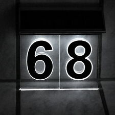 hausnummern aus acryl mit beleuchtet ebay. Black Bedroom Furniture Sets. Home Design Ideas