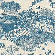 Heartwood Scenic in Blue  by Makower 100% Cotton  Fabric  FQ