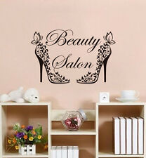 Fashion High-heeled Shoes Vinyl Wall Decal Beauty Salon Removable Art Sticker