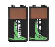 2x Duracell 9V HR9V 170mAh NiMh PP3 Akku-Batterie Wiederaufladbar/Rechargeable