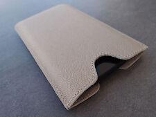 Samsung Galaxy S5 Leder Handytasche beige Case Hülle Etui bag Cover WUNSCHGRAVUR
