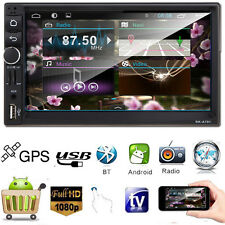 Android 4.4 Car Double 2DIN USB/TF/AUX/MP3 Player FM Bluetooth GPS Nav Touch