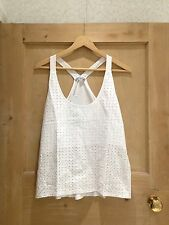 ZARA TOP size M 10 WHITE LACE BNWT Racer Back