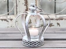 Chic Antique Windlicht Krone Teelichthalter Metallkrone Vintage Brocante shabby