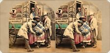 18 kolorierte Stereofotos interessante Genre Motive um 1860, Lot 2