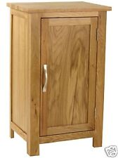 Oak Small Cupboard One Door / Shelf Inside / Narrow /Mini Oak Cabinet