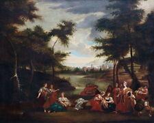 Auffindung Moses - Barockgemälde - Öl/LW - um 1700   (# 6153)