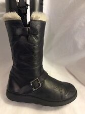 JOHN LEWIS  Kids Girls Black Leather Boots Size 33