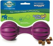 Busy Buddy Rubber Chew Dog Play Dumbbell Toy - The Waggle Treat Dispenser Large