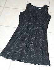 Staccato Kleid schwarz Gr. 40 Satin mit Spitze