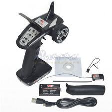 FS-GT2B 2.4G 3CH Radio Model Remote Control Transmitter &Receiver for RC Car