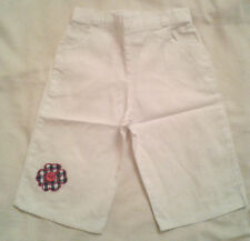 BNWOTS BABY GIRLS WHITE TROUSERS 0-3 MONTHS COTTON