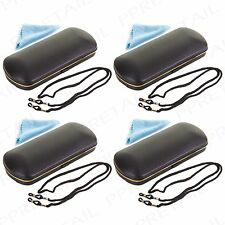 4 x  BLUE READING GLASSES/SUNGLASSES HARD CASE Cloth/Neck Spectacle Cord/Strap