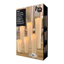 HQ LED-Kerzen 6 STÜCK Warmweiß aus echtem Wachs hergestellt Tropfeffekt NEU