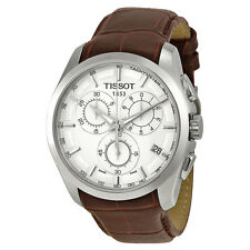 Tissot Couturier Brown Leather Mens Watch T0356171603100-AU