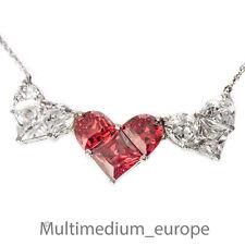 Zirkonia Silber Herz Collier Halskette Anhänger zirconia silver necklace hearts