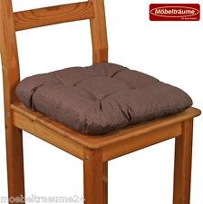 Bis zu 200 Sitzkissen 38 x 38 x 8 cm in braun Stuhlkissen Kissen Softkissen neu