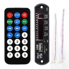 Remote Control Car LED Bluetooth MP3 Decoder Board Audio Module USB TF FM Radio