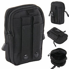 Universal Army Black Belt Pouch Case Cover for Mobile Phone Holster Tactical Bag