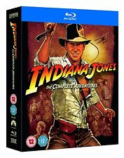 """INDIANA JONES THE COMPLETE ADVENTURES 5 DISC BOX SET BLU-RAY RB """"SEALED"""""""