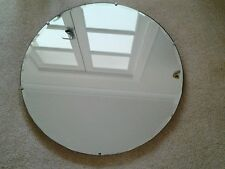 Vintage Art Deco Round Wall Mirror with Bevelled Edging 24""
