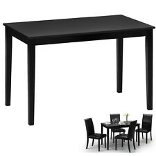 Dining Room Table Small Kitchen Modern Black Gloss Breakfast Dinner 4 Seater