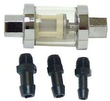 """UNIVERSAL IN-LINE FUEL FILTER 1/4"""", 5/16"""" & 3/8 FITS OUR FUEL LINE BRAIDED CABLE"""