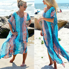 Newest Womens Summer Long Kaftan Maxi Dress Evening Cocktail Party Beach Dress