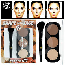 W7 Shape Your Face Contour Kit/Palette with Angled Brush # Brand New