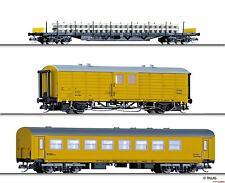 TT 3-teiliges Güterwagenset Gleisbauzug 25 Jahre MATTRA/Pilz Ep.VI Tillig 01729