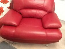 Leather Suite samara  in Red  CONSIDER OFFER MAYBE