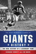 The Most Memorable Games in Giants History :) History of a Legendary Team