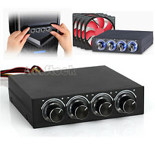 """4 Computer LED Cooling Fan Speed Temperature Controller 3.5"""" Bay Panel PC Laptop"""