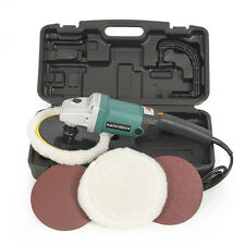 """7"""" Variable 6 Speed Electric Polish Sand Buff 11AMP Auto Boat Paint 3100RPM+Case"""