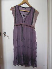 See Through Purple Embroidered Lace Trim Dress in Size 12 - 14 / Large - BNWT