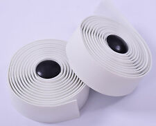 RALEIGH SUPER SOFT WHITE CYCLING HANDLEBAR WRAP TAPE PADDED ROAD BIKE & PLUGS