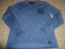 Herren Longshirt Langarm Shirt Pulver jeans blau Gr. L von s.Oliver