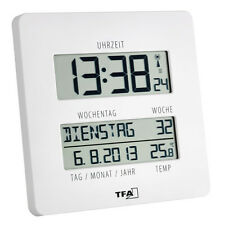 FUNK-WANDUHR FUNKUHREN TIMELINE TFA 60.4509.02 WANDUHREN DATUM DCF-77 TEMPERATUR