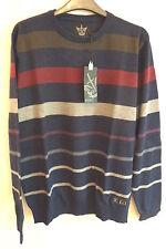 Firetrap Striped Jumper 100% Cotton Knitwear Large BNWT Fire Trap RRP £49.99