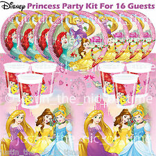 Disney Princess Girls Childrens Kids Birthday Party Tableware Kit Pack For 16