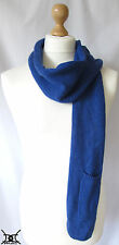 JOHN LEWIS Wool Scarf Tech-cessories Range Blue with Pocket *£25 RRP*