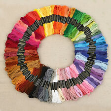 Cotton Polyester Sewing Thread Filament for Embroidery Machine 50Pcs New SN