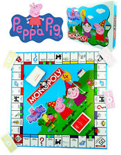 *2015 BRAND NEW* PEPPA PIG MONOPOLY BOARD GAME FAMILY CARD SET KID TOY ENGLISH