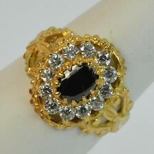 Quality 22ct Gold Indian Sapphire Cluster Ring t0328