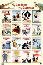 GUINNESS BEER MY GOODNESS MONTAGE AD POSTER PRINT NEW 24x36 FAST FREE SHIPPING