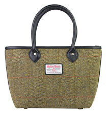 Authentic Harris Tweed Ladies Tote Handbag - Traditional Green HC040