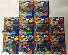 HOT WHEELS MONSTER JAM 1:64 STUNT RAMP 10 PACK TRUCK MADUSA BATMAN +8 MORE 21572